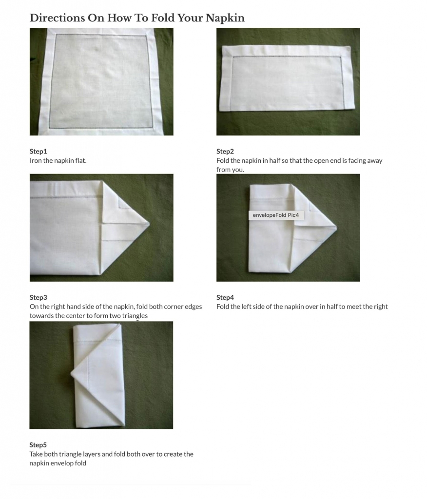 How To Fold Napkin